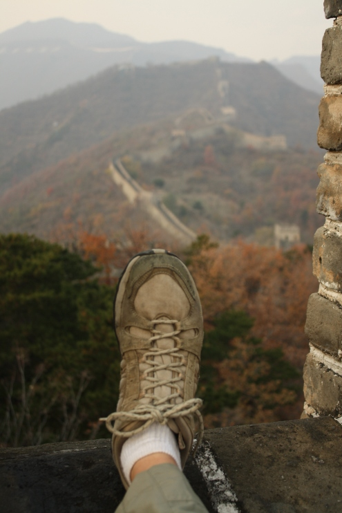 From a foot* above the Great Wall (* pun intended)