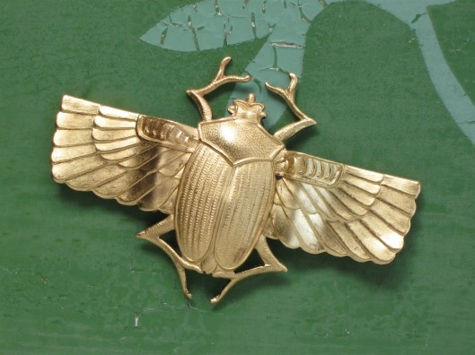 Scarabs found on etsy, usually in gold