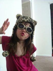My niece, Jordan, blowing a kiss.