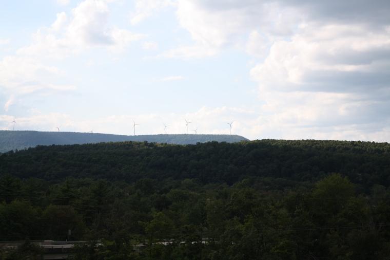 Windmills on every ridge