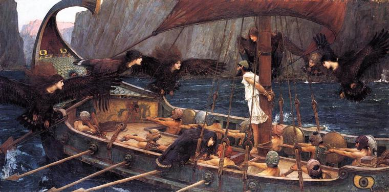Odysseus and the sirens, courtesy of Wikipedia.org
