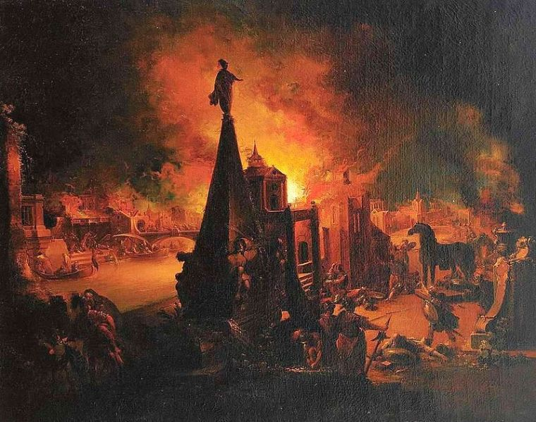The burning of Troy